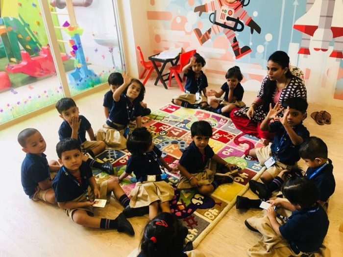 Students Of Staford Pre SchoolsLucknow Were Thrilled To Be Back Schoolafter Their Summer VacationsThey Hugged Teachers With Lots Warmth